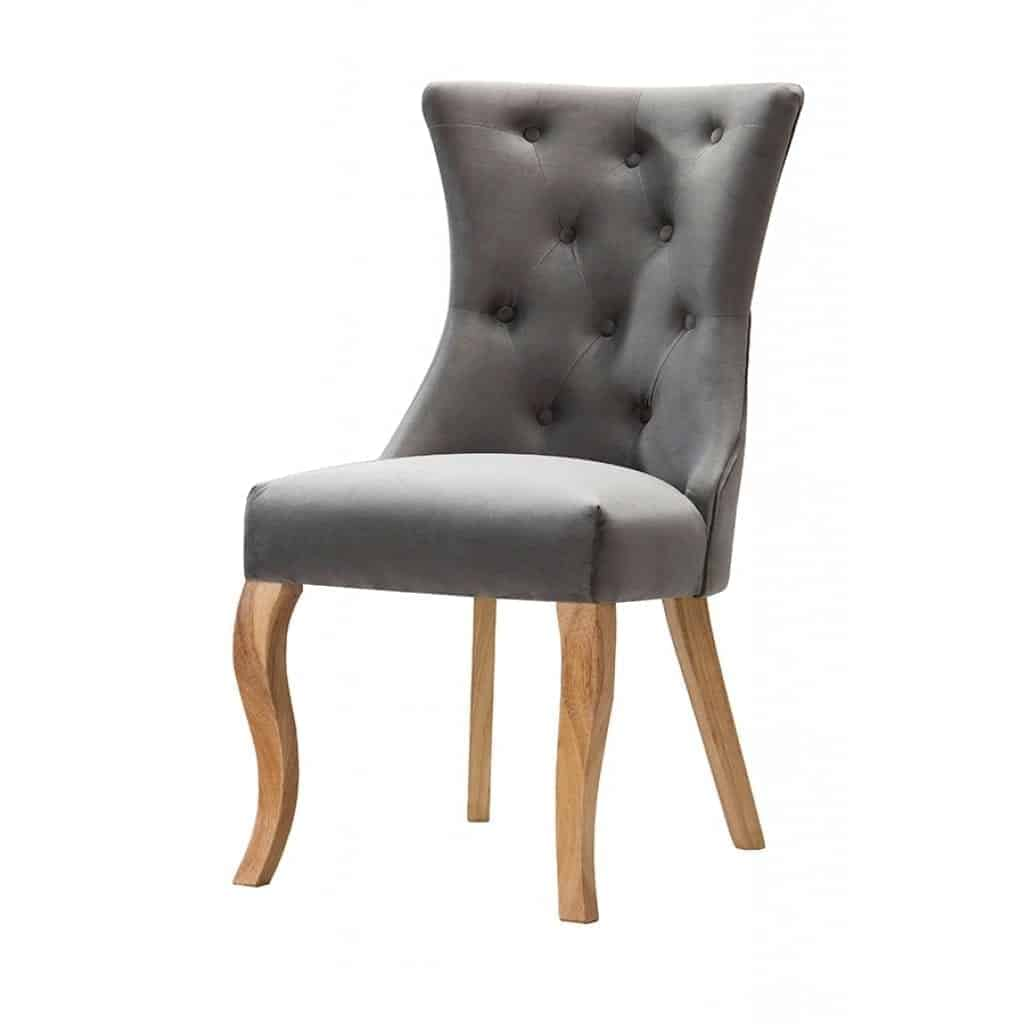 florence dining chair in velver fabric