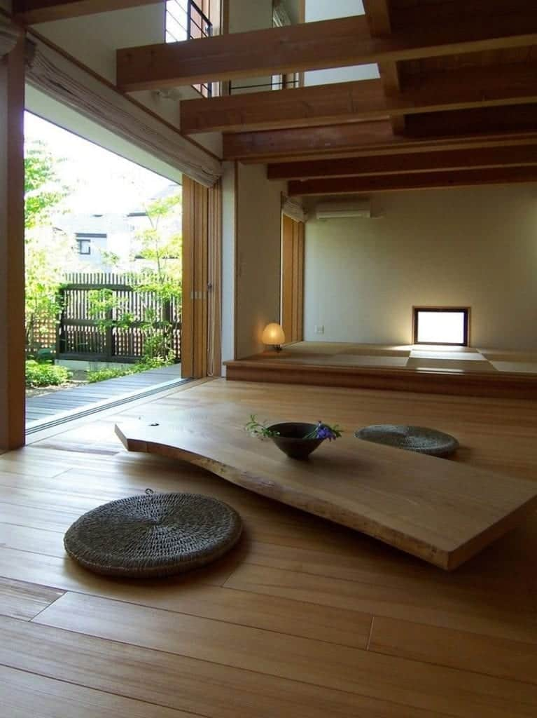 Japanese Design main feature is natural wood