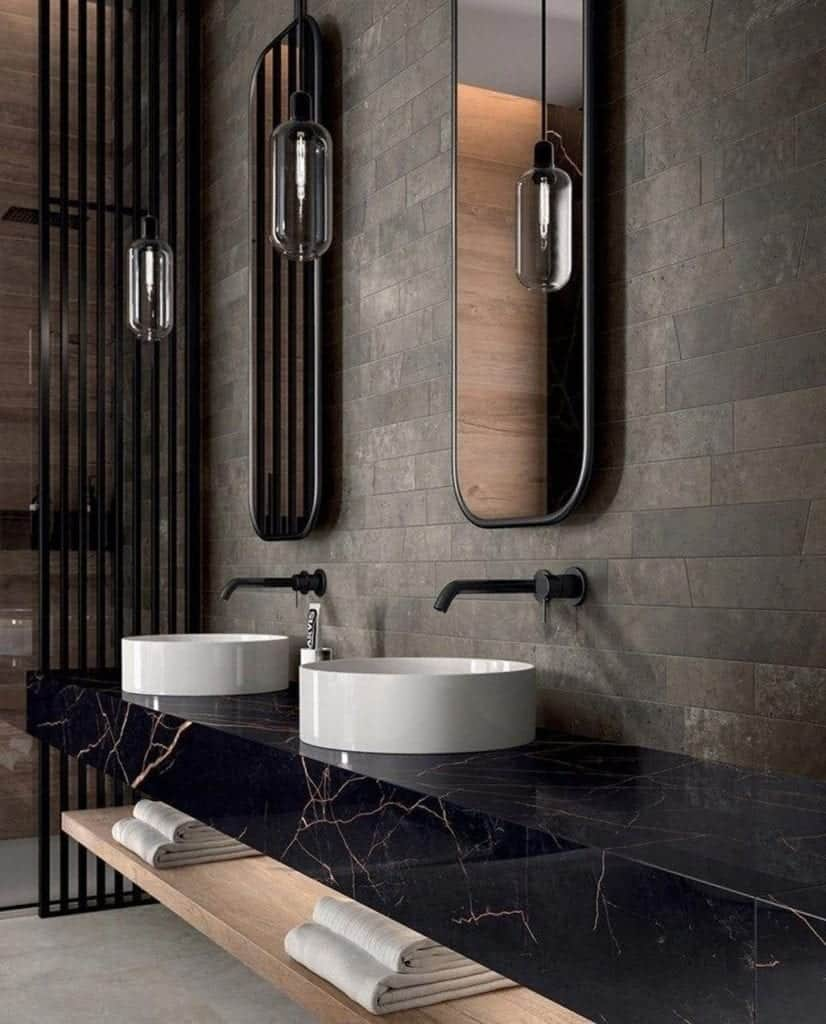 Bathroom interior in minimalistic style
