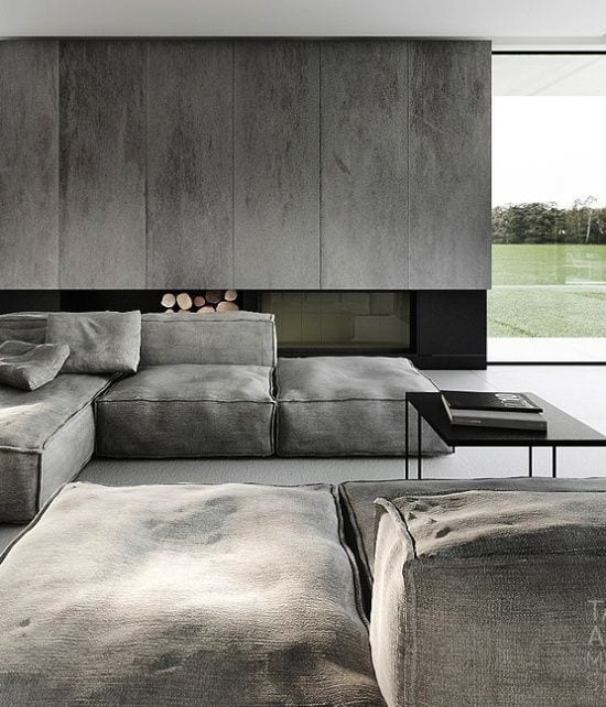 Minimalism presented with natural Grey earth colors
