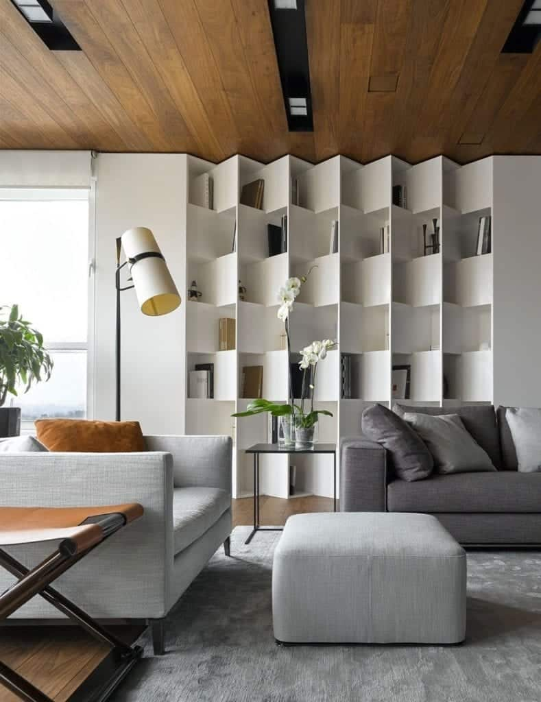 Books as part of texture and its interior design