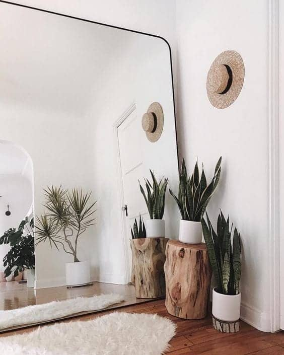 Mirrors can make space larger