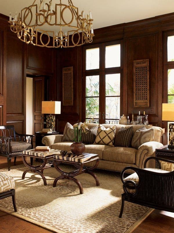 Living room inspired by traditional interior design