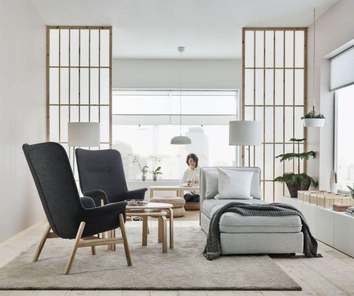 Japandi interior design is mix of Scandinavian modern and well known Japanese traditional minimalism.