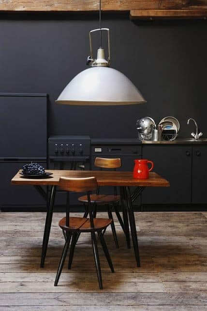 This light pendant is to big for table | Example of wrong proportion