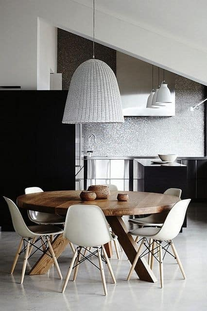 Great use of scale and proportion in this dining and kitchen area