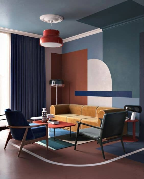 Scale and proportion in interior using colors
