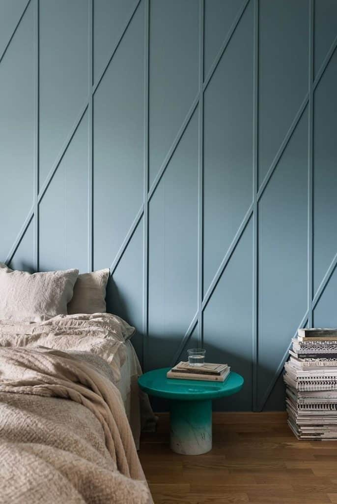 Geometric wall patterns are. Important element of interior design.