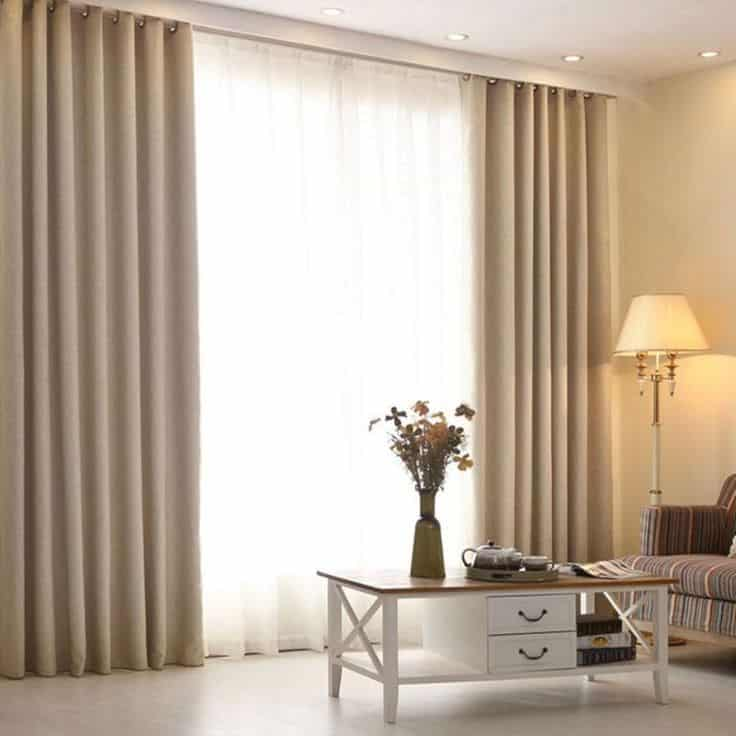 Curtains are great example of adding texture to your end interior design.