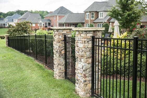 7 Best Fencing Materials: 4. aluminum fence