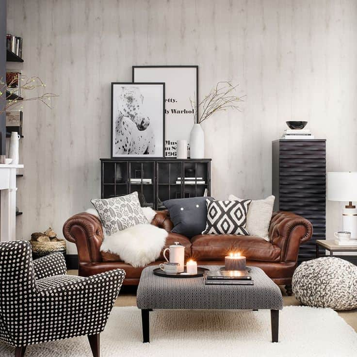 Throw pillows are great accessories when it comes to styling your brown sofa