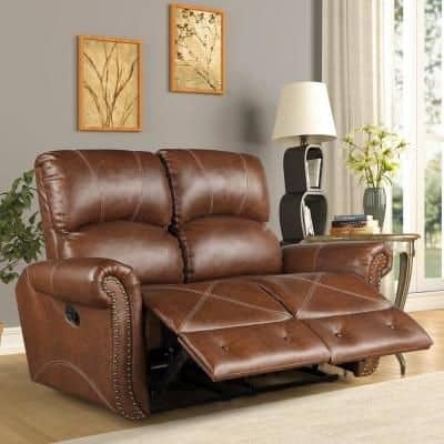 9. Recliner brown sofa