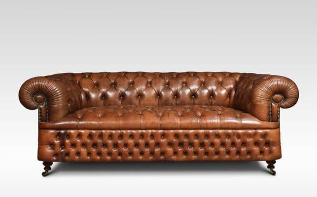 3. Chesterfield brown sofa