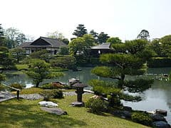 Katsura Imperial Villa strolling garden was created in the Edo Period