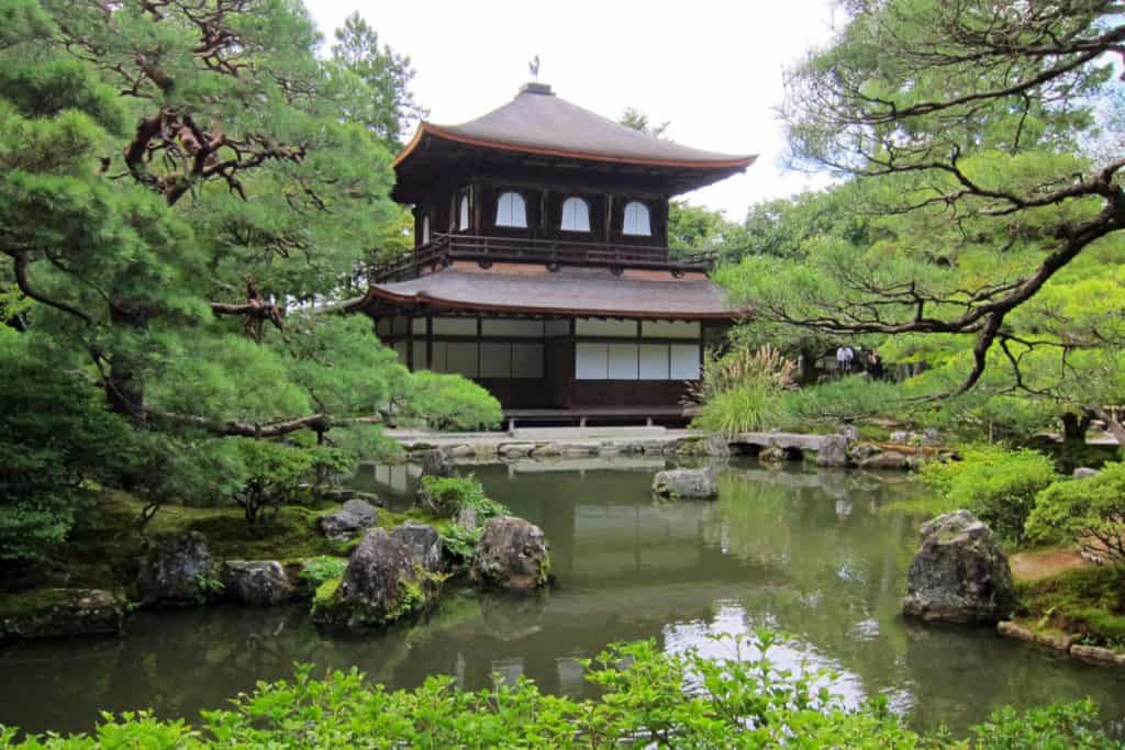 The Shogun stroll garden is located at Ginkaku-ji Temple (or the Silver Pavilion). This is among Japan's most impressive traditional landscape gardens.