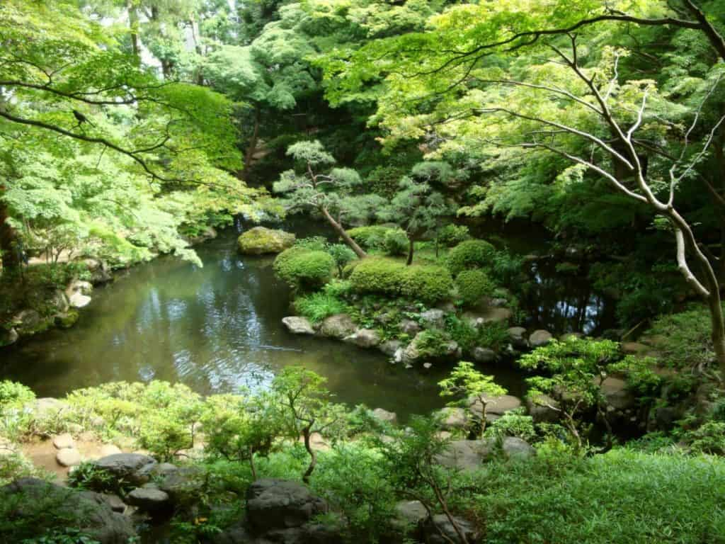 Tonogayato Teien is a landscape stroll garden. It is situated near Tokyo and was established between 1914 and 1916.