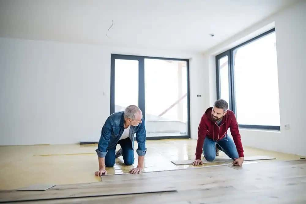 How soon can you put furniture on vinyl plank floors after installation