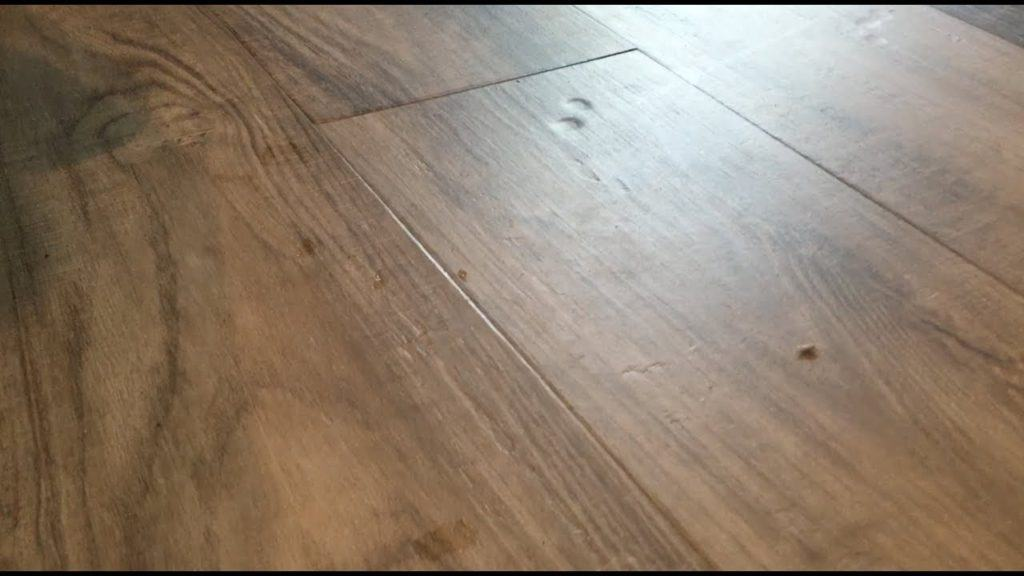 Dents in vinyl plank flooring
