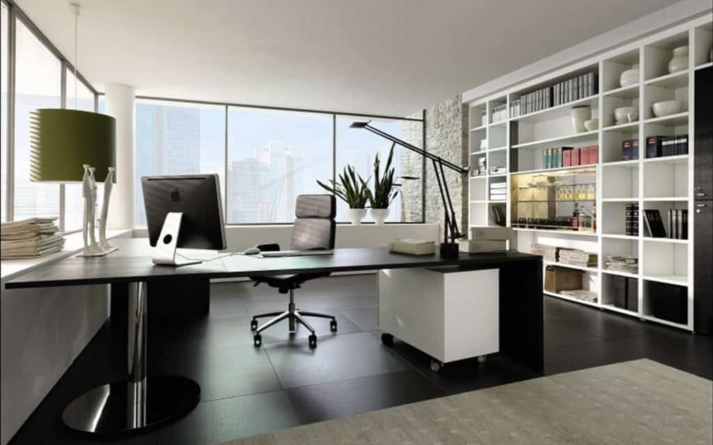 L shaped study desk / office table with Feng Shui in mind