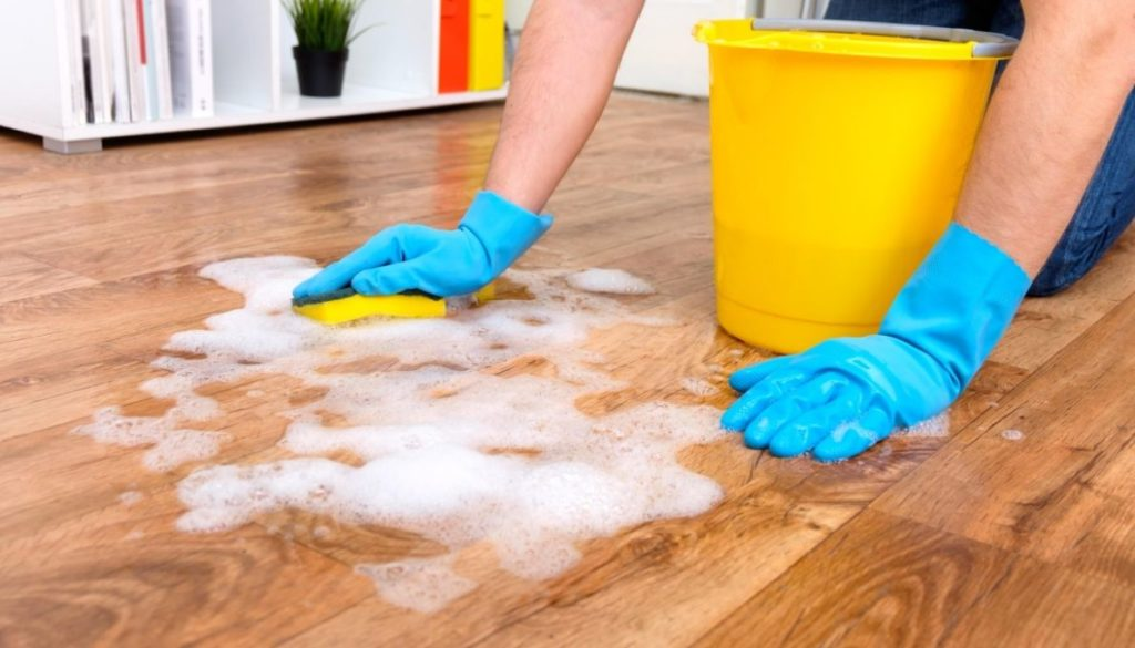 Haze on Hardwood floors - to much cleaning solution