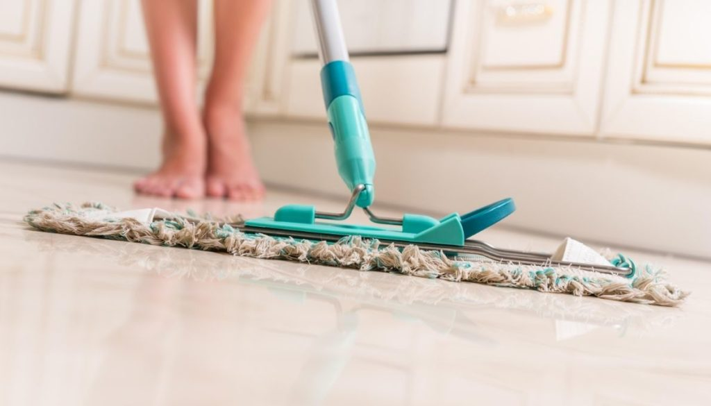 change the mop cloths to prevent hazy floors