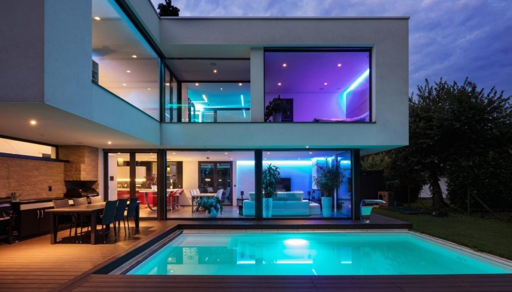 Big windows are essential part of each modern house