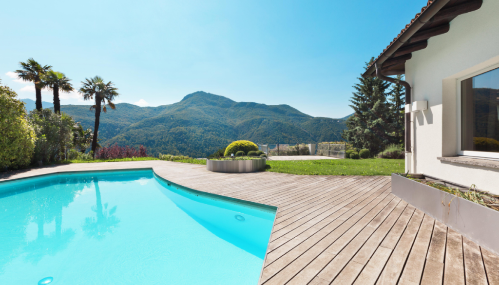 Teak floors are great natural solution for your swimming pool.