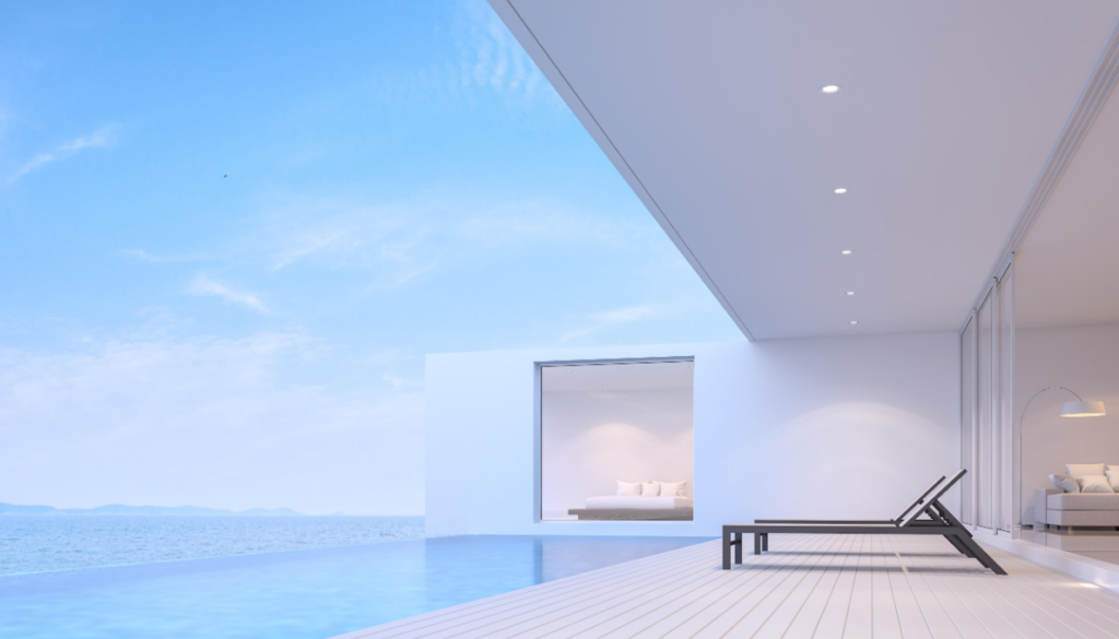 Modern house with infinity pool
