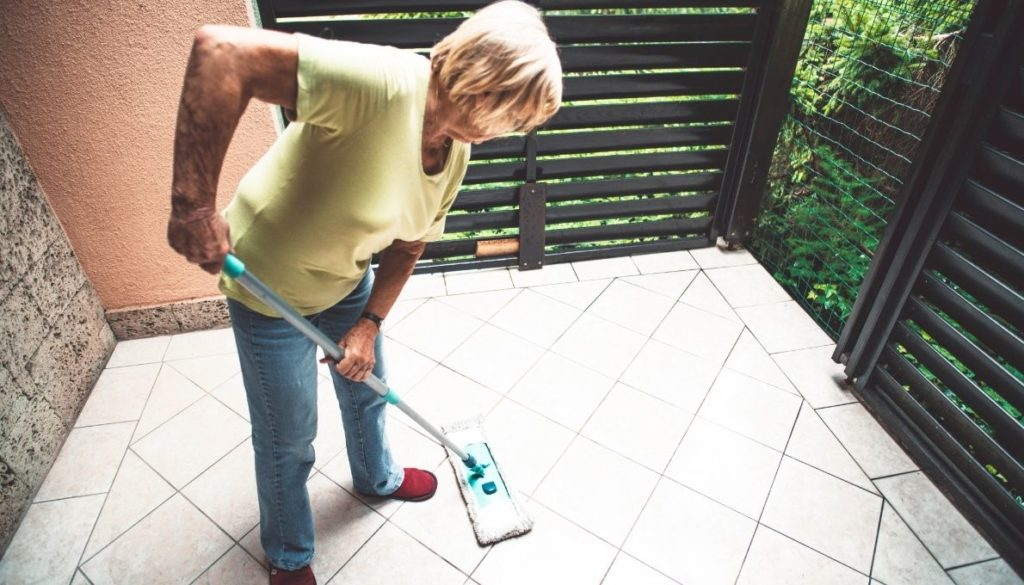Porcelain tiles are extremely easy to maintain, all you need is a wet mop