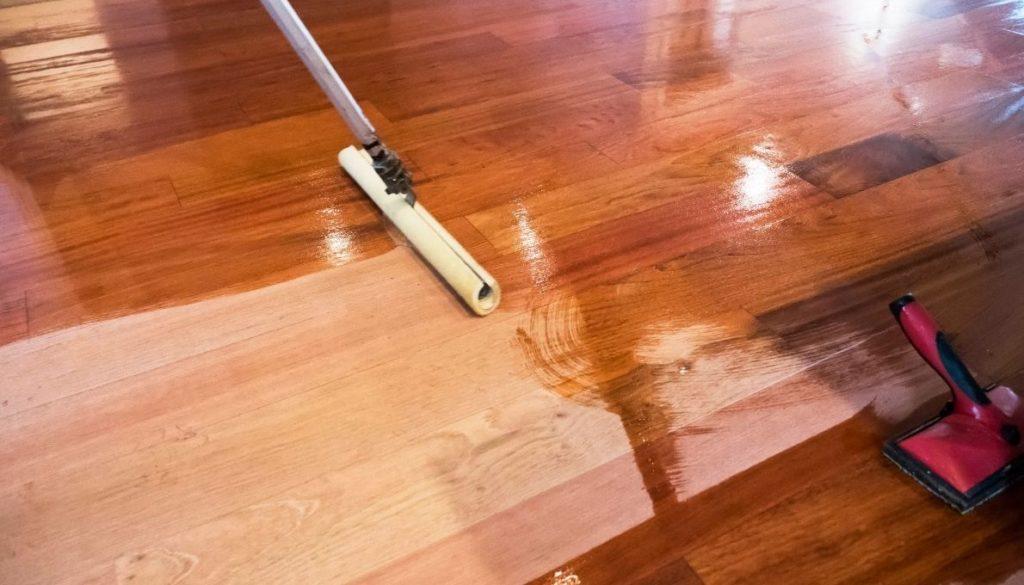 Step 4: Staining / Coloring hardwood floors