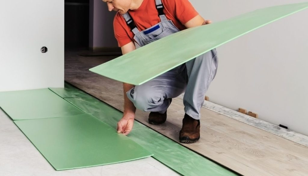 Underlayment is the cushion that goes between the subfloor