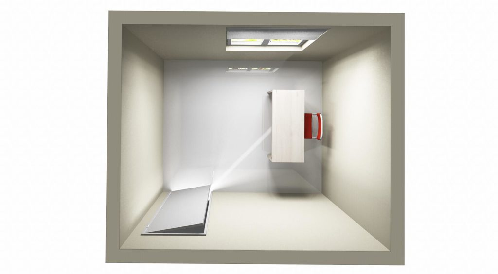 To Achieve correct feng shui desk placement or command position, place yourself to see your room entrance.